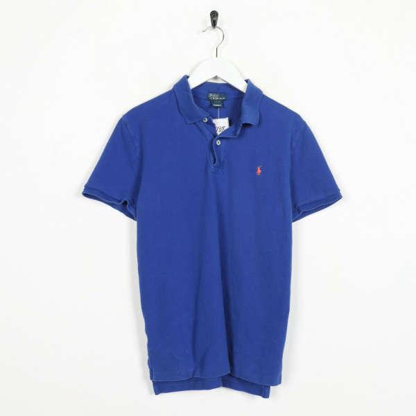 Vintage RALPH LAUREN Small Logo Polo Shirt Top Blue Youth 18-20 small S