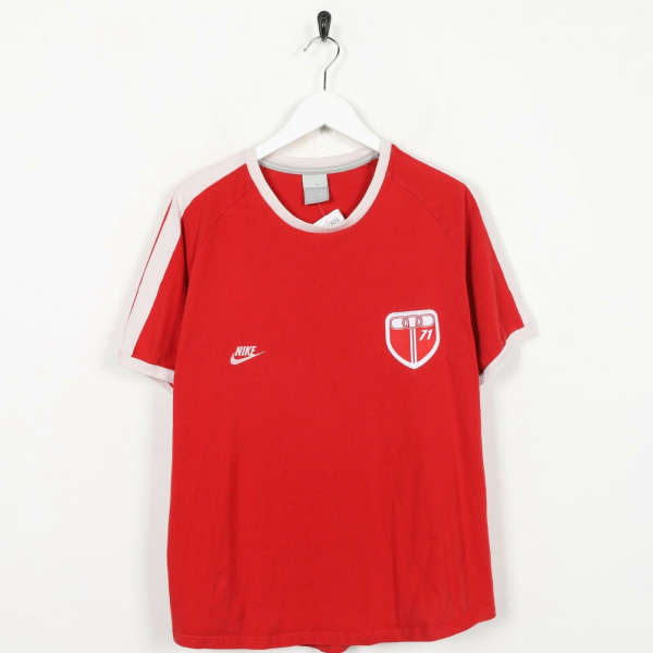 Vintage NIKE Small Logo T Shirt Red | Large L