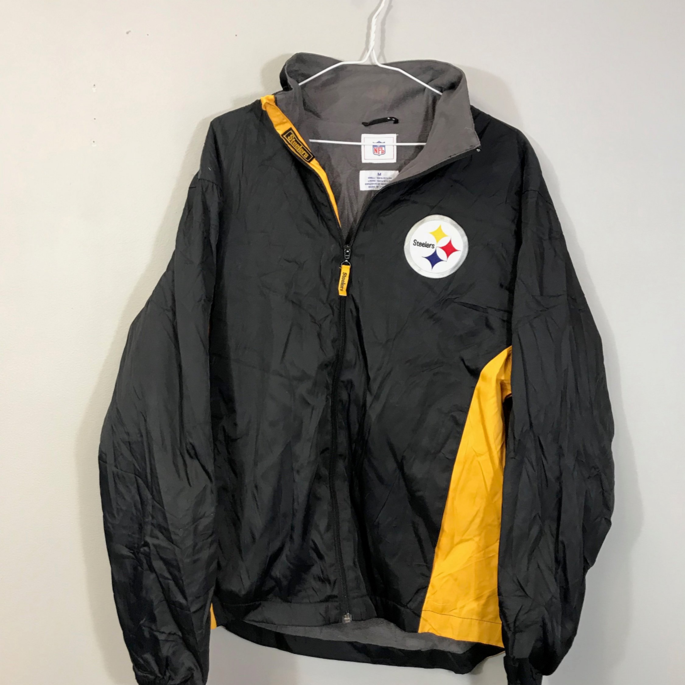 the latest 9dd1d ee5d3 Vintage 90S Nfl Steelers Jacket