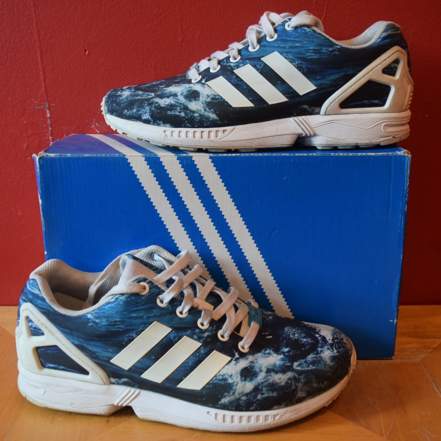 finest selection 870aa 03eab Adidas Zx Flux Ocean Wave 8.5