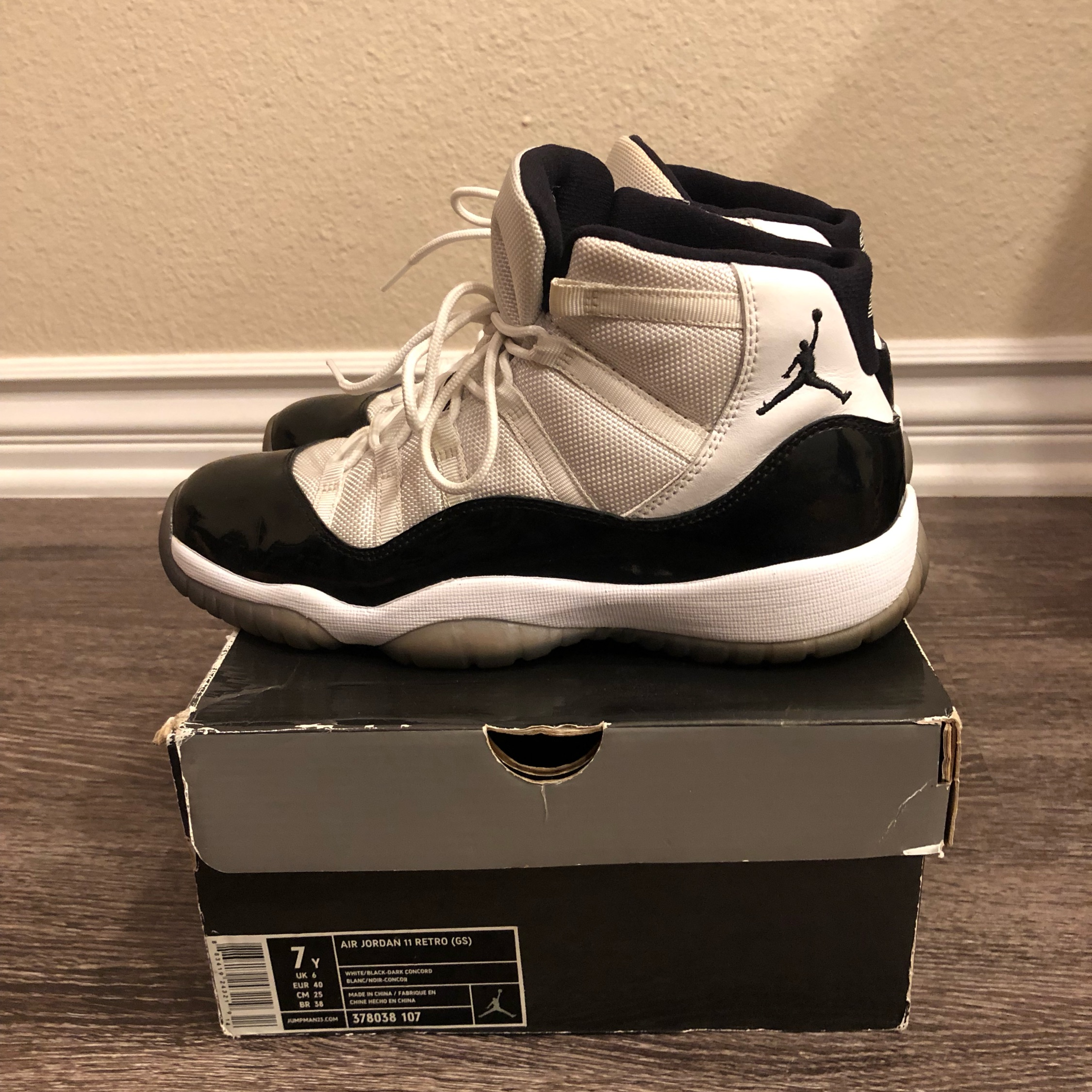 separation shoes 15145 304aa Air Jordan 11 Concord 2011 Size 7
