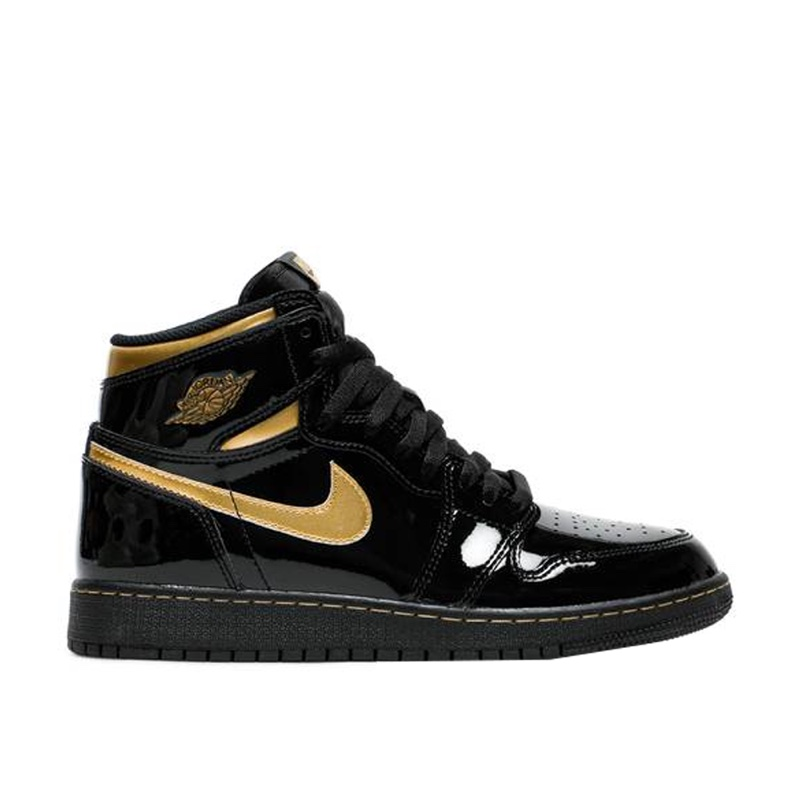 Jordan 1 Retro High OG Black Metallic Gold