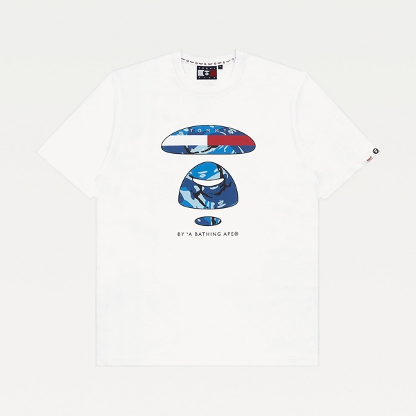 Tommy Jeans X Aape Logo Tee White