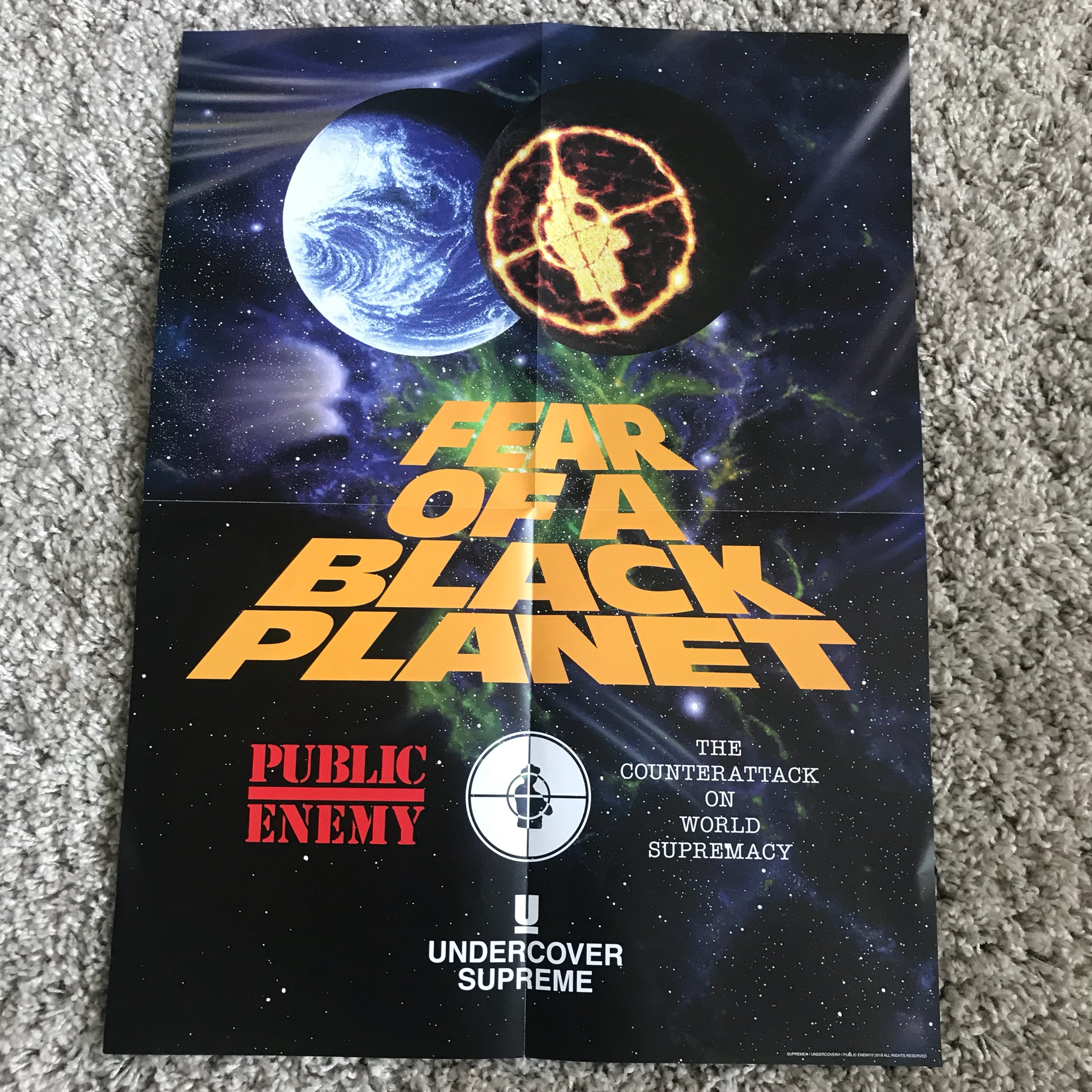 ec1b5dfdcaa7 Supreme Undercover Public Enemy Poster
