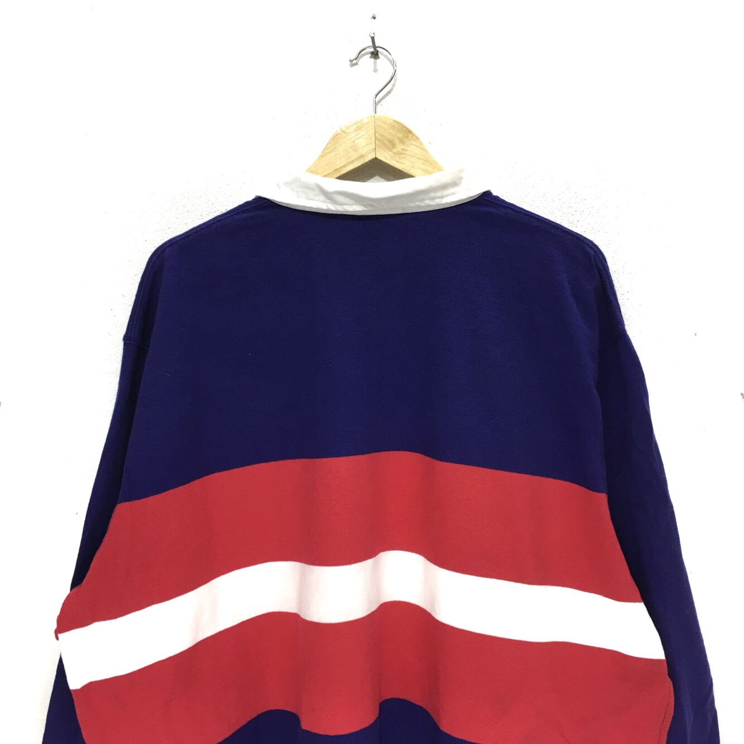 2be8497e Vtg Polo Ralph Lauren Pony Striped Rugby Tee Shirt