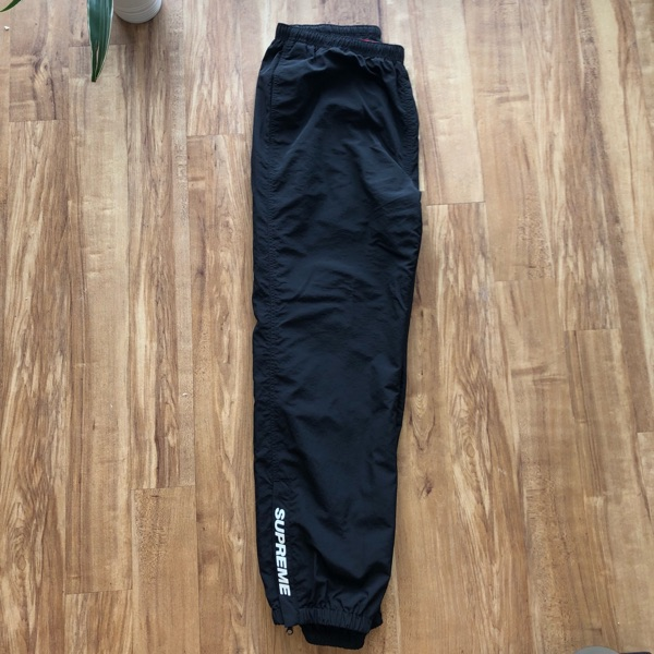 Fw18 Supreme Black Warm Up Pants