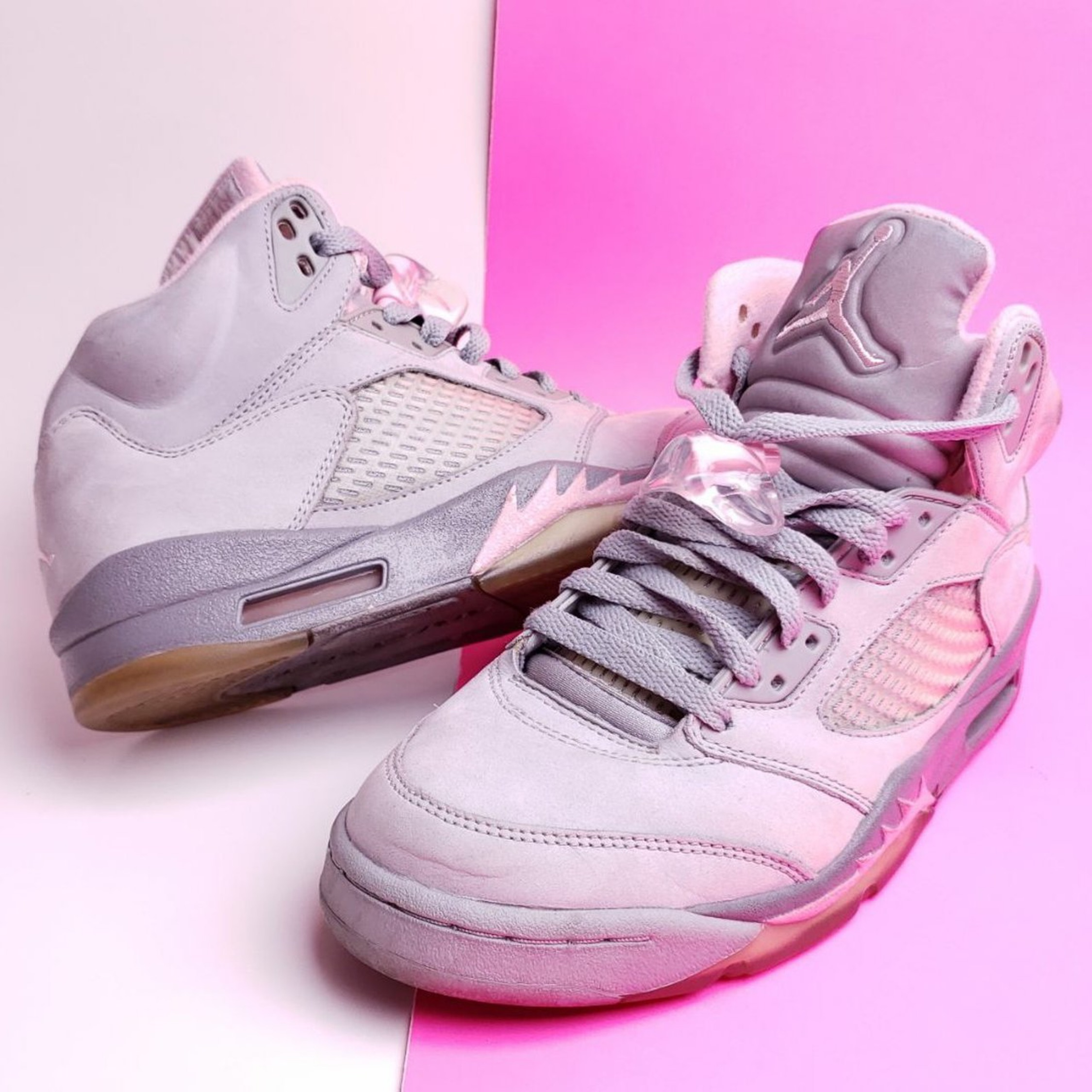new styles 74be6 1c8f6 Air Jordan 5 Retro Shy Pink Stealth