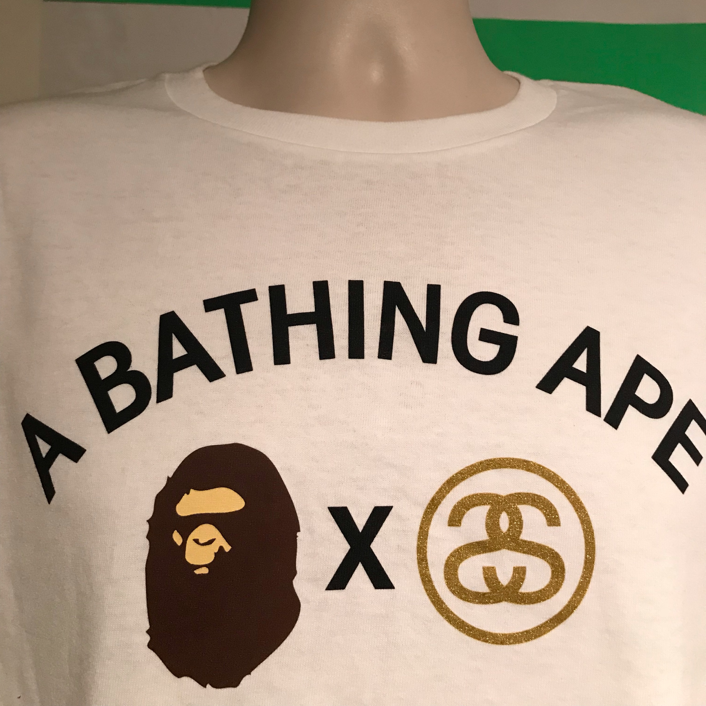 timeless design a46d5 dd9d6 A Bathing Ape Stussy Survival Of The Fittest Tee