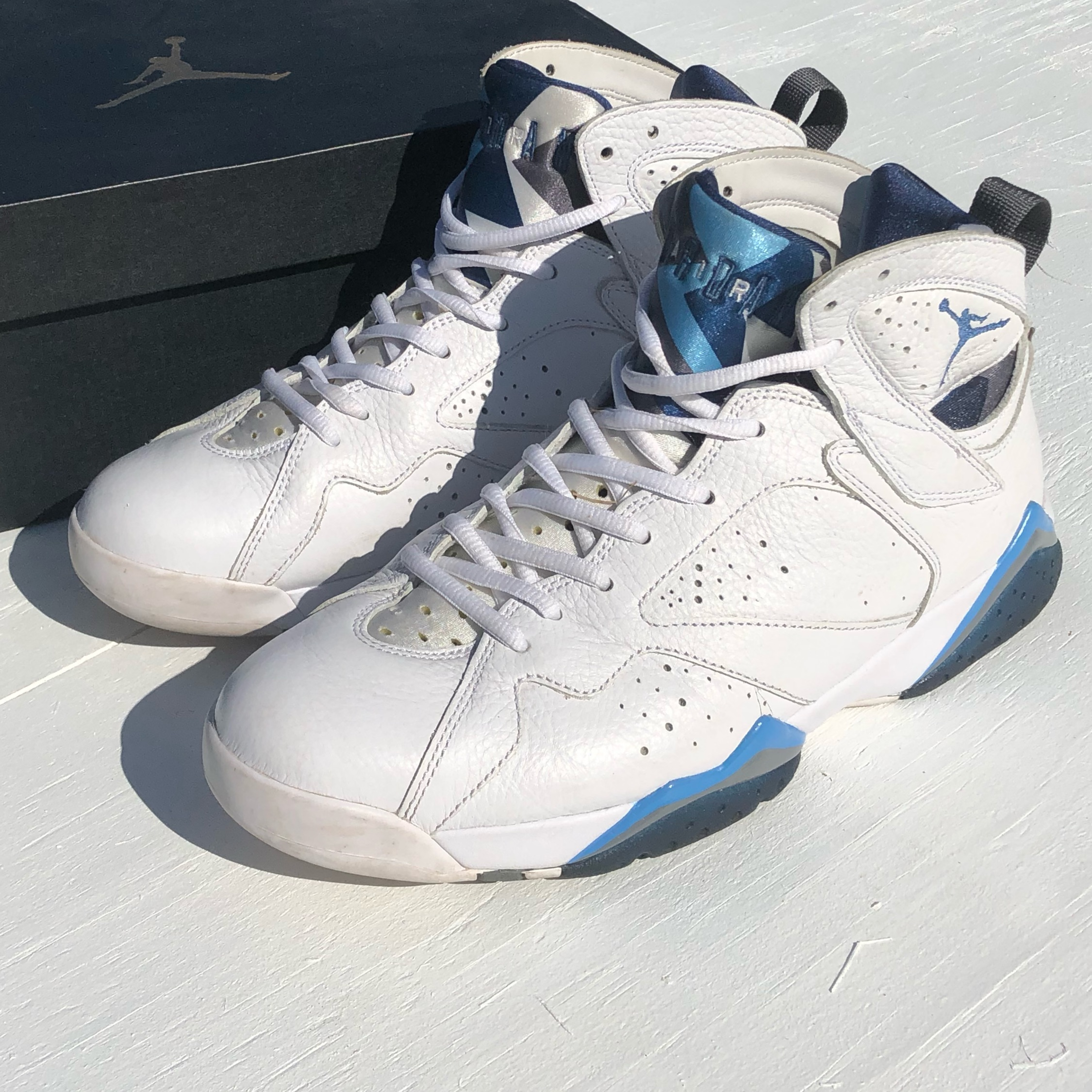 "new product fb1aa f2400 Air Jordan 7 Retro ""French Blue"" 2015"