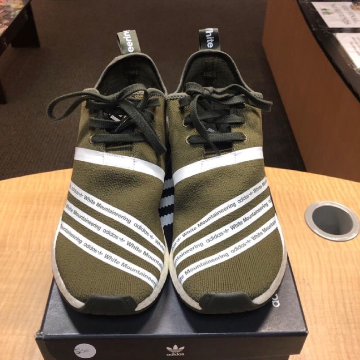 e466134d Adidas Nmd R2 White Mountaineering Trace Olive