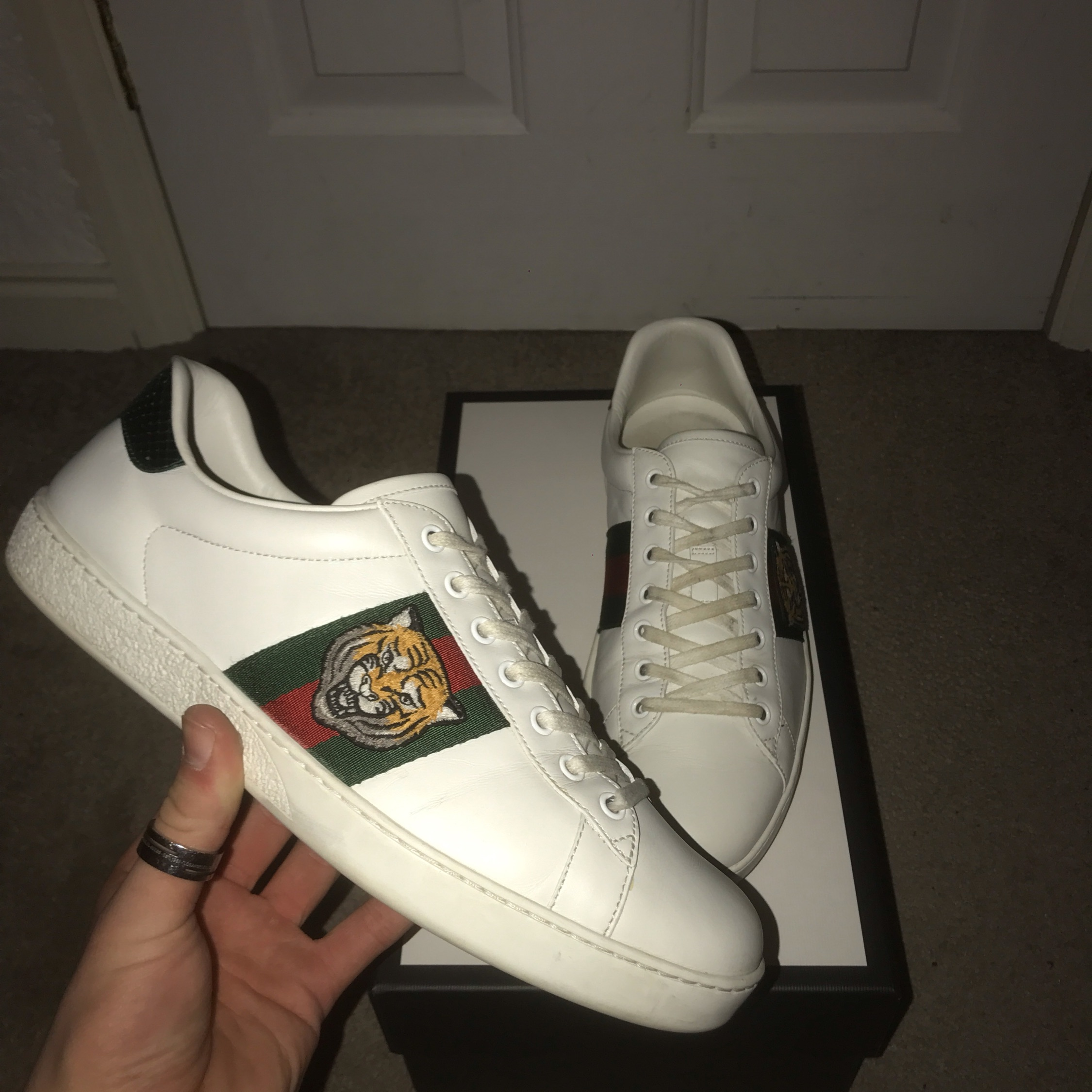 Gucci Ace Sneakers Size Eu 43 Tigers