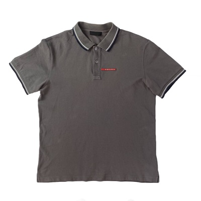 Prada Men's Polo Top Grey