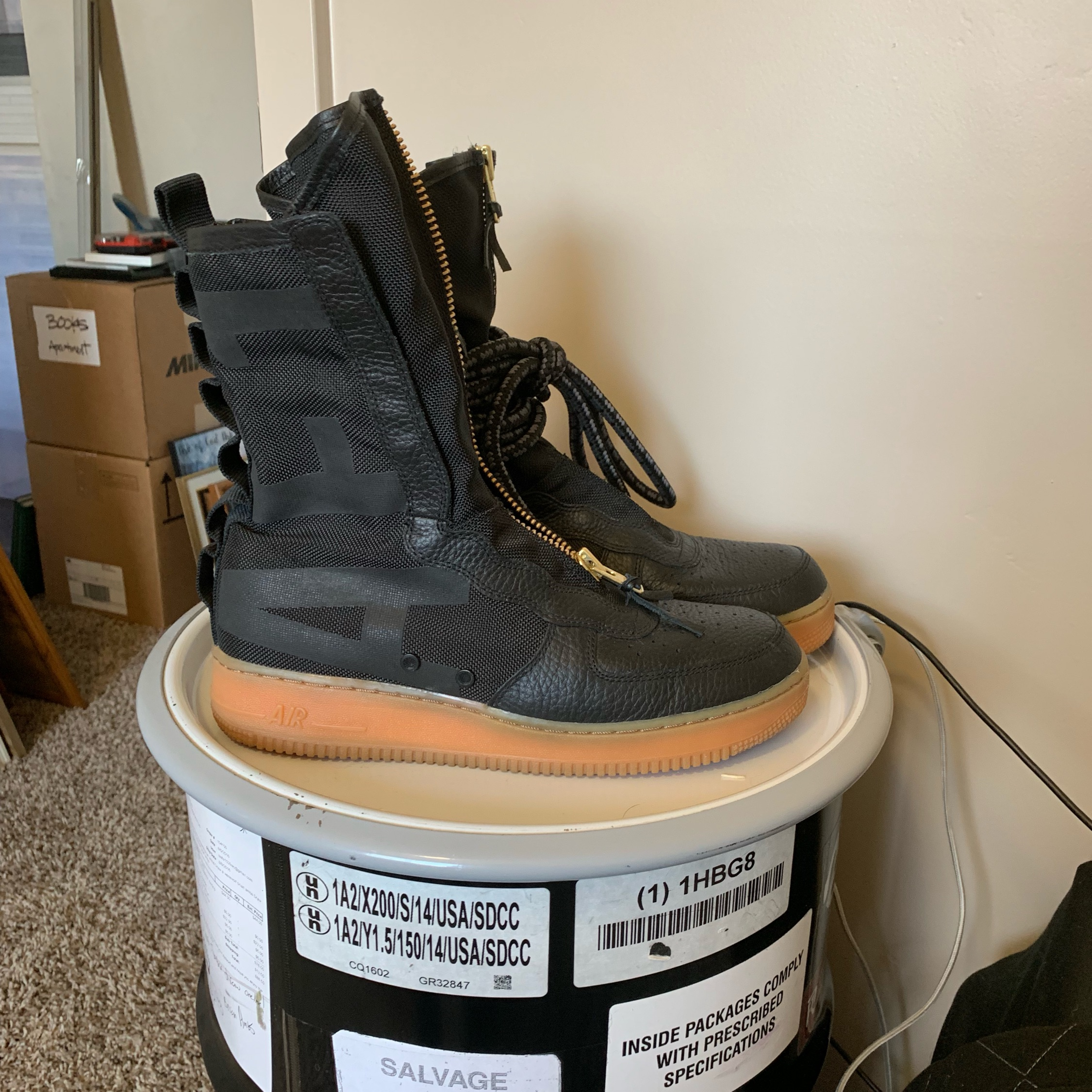 info for 6136f 64584 Nike Air Force One Special Forces Super High