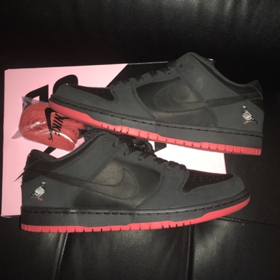 Nike Sb Dunk Low Black Pigeon Uk10 Us11