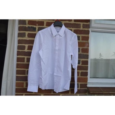 Givenchy White Barbed Wire Embroidered Shirt