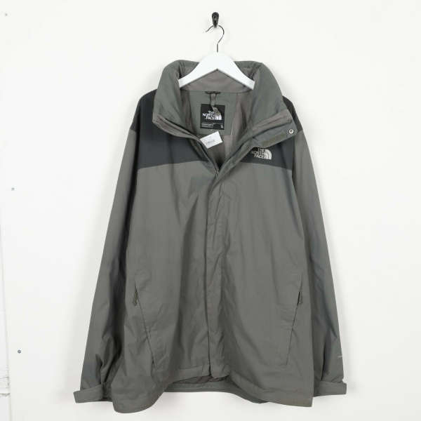 Vintage THE NORTH FACE Small Logo Hooded Dry-Vent Coat Jacket Grey XL