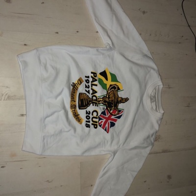 Palace White Crewneck