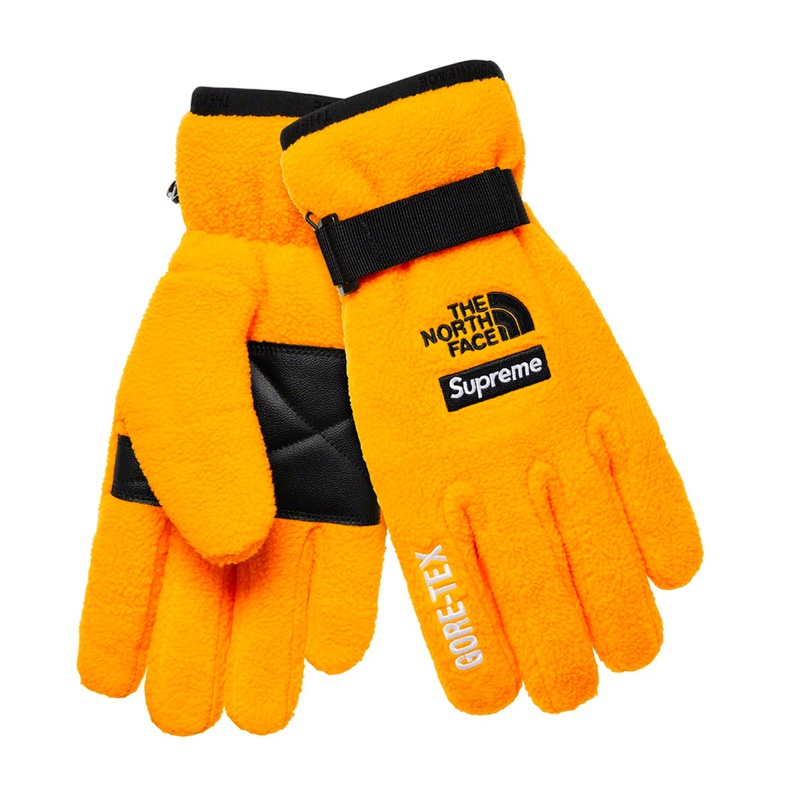 Supreme The North Face RTG Fleece Gloves Yellow