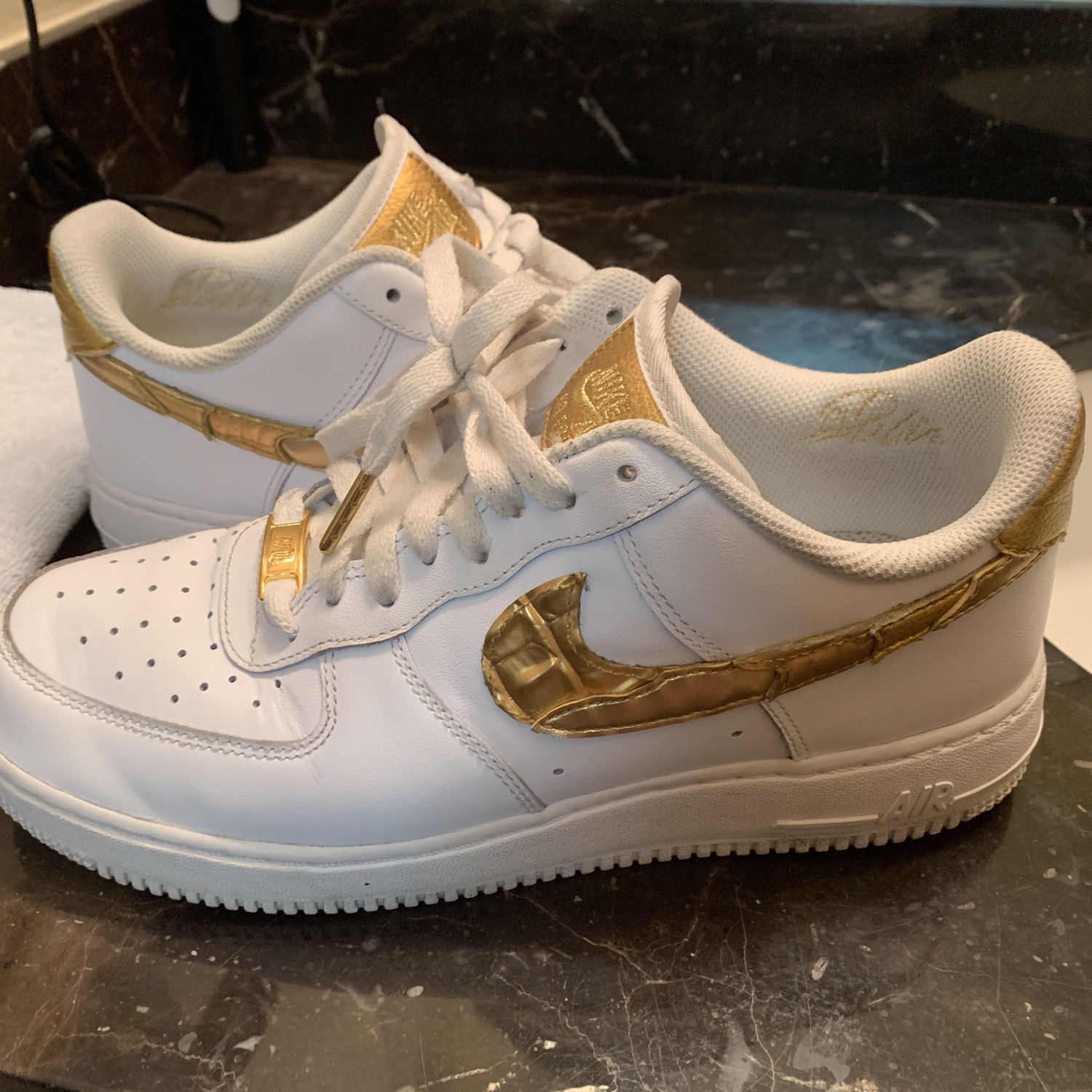 Muelle del puente Bien educado Elevado  Nike Air Force 1 Cr7 Golden Patchwork