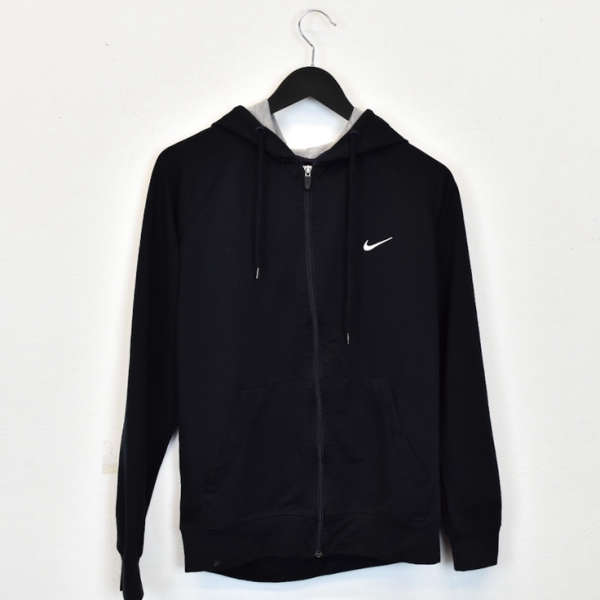 Vintage Nike hoodie pullover sweatshirt windbreaker fleece track jacket in black