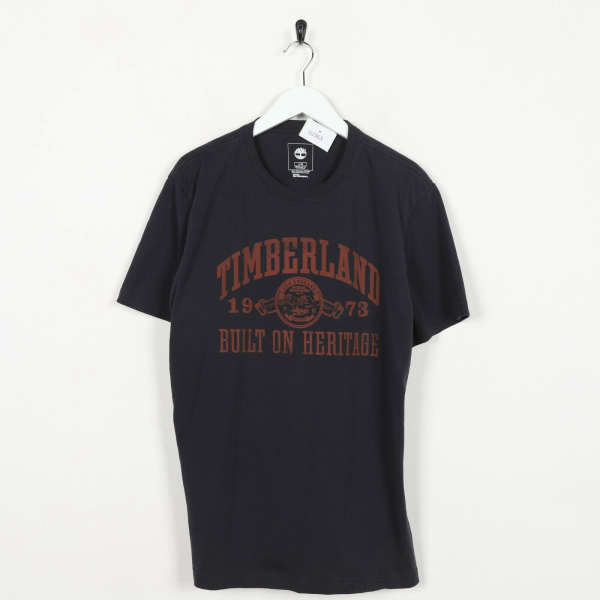 Vintage TIMBERLAND Graphic T Shirt Black Red | Large L