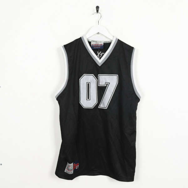 Vintage USA Basketball Polyester Jersey Top White Black | Small S