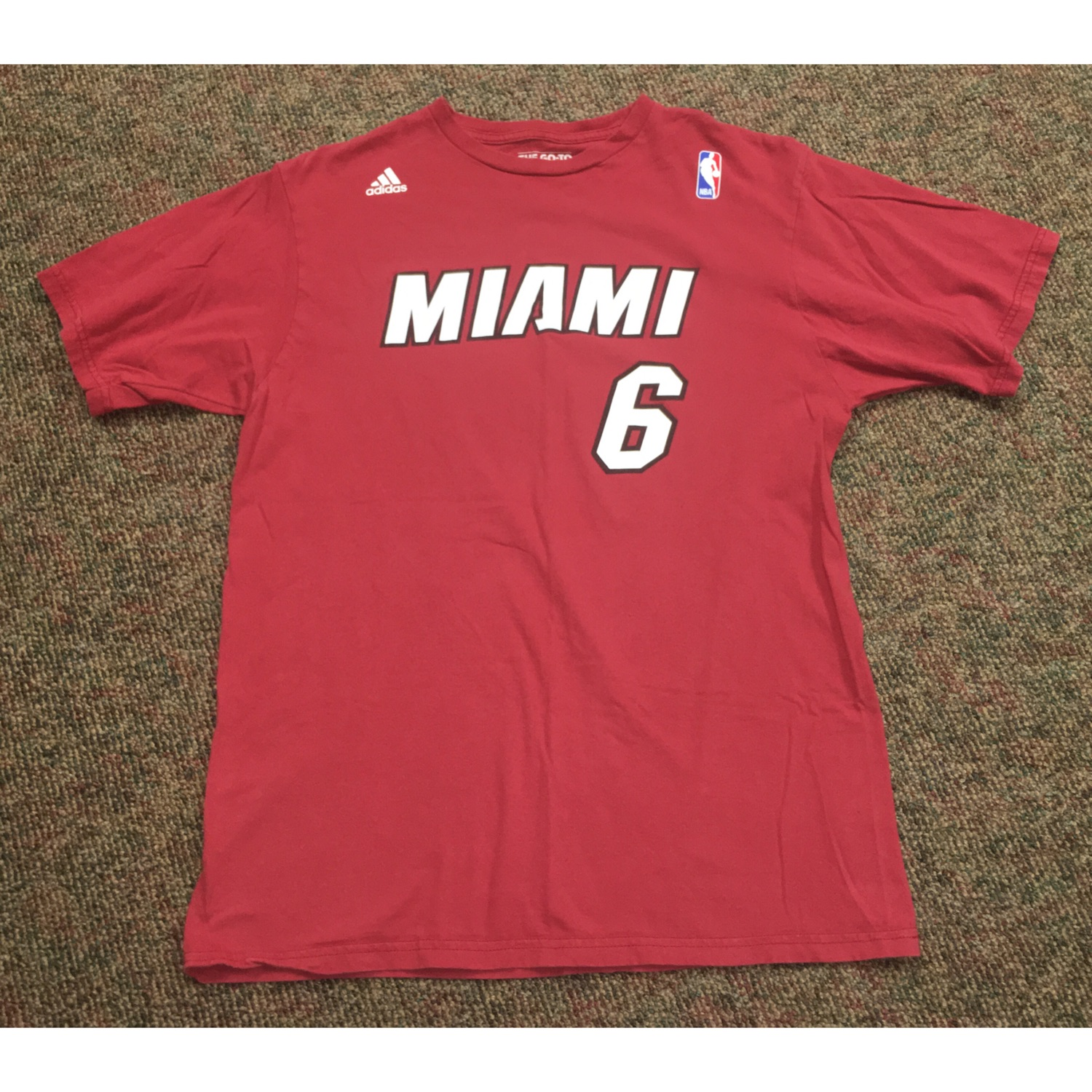 finest selection b706c 33fba Miami Heat #6 Lebron James Red Shirt