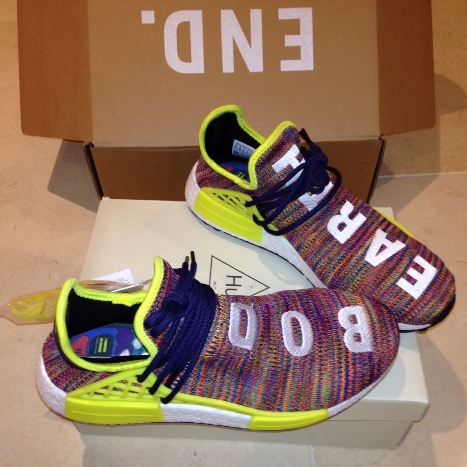 low priced f3706 67581 Human Race Multi Colour Pharell Size 10