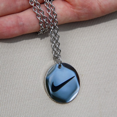 Nike Necklace Silver