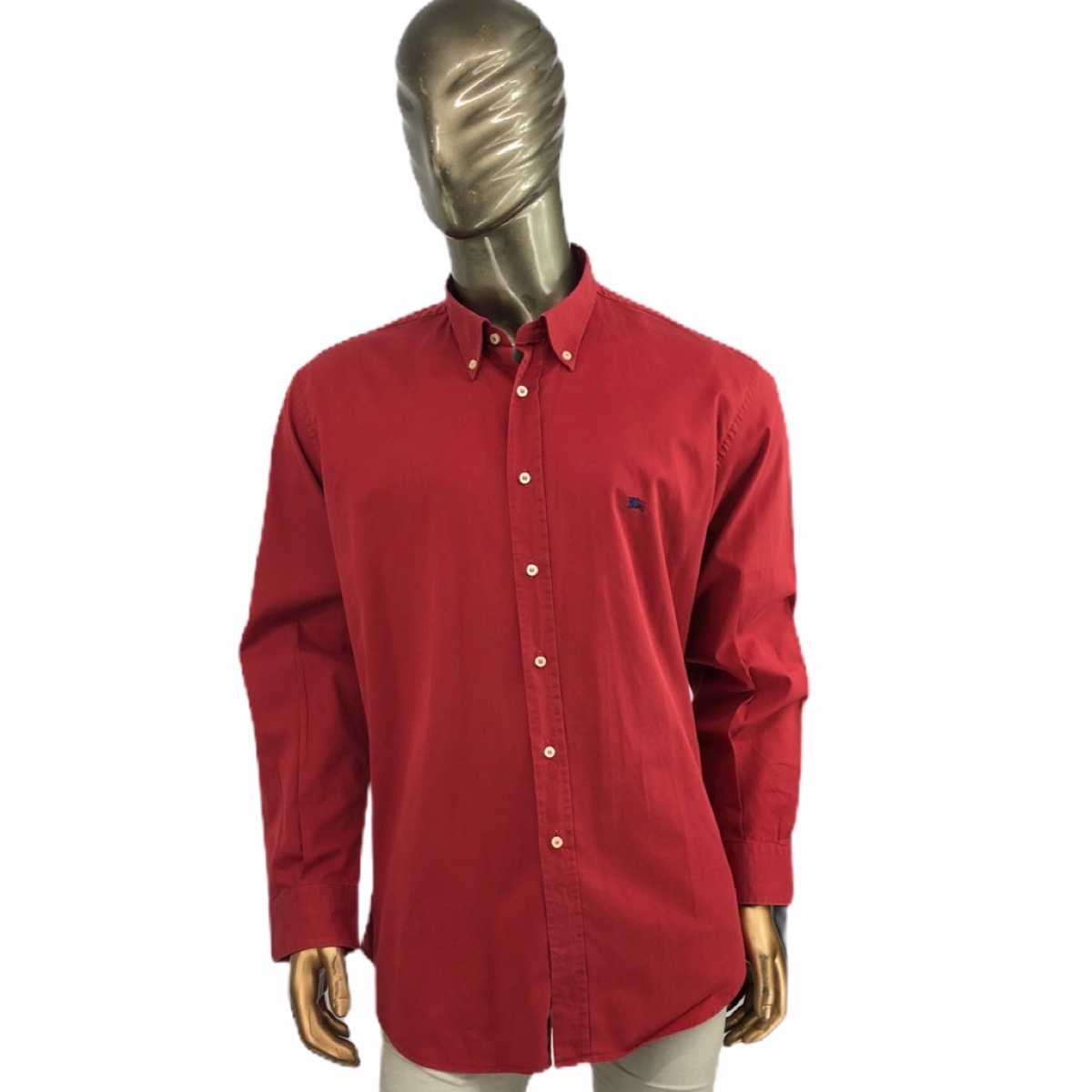 Burberry London shirt red Navy Logo xxl