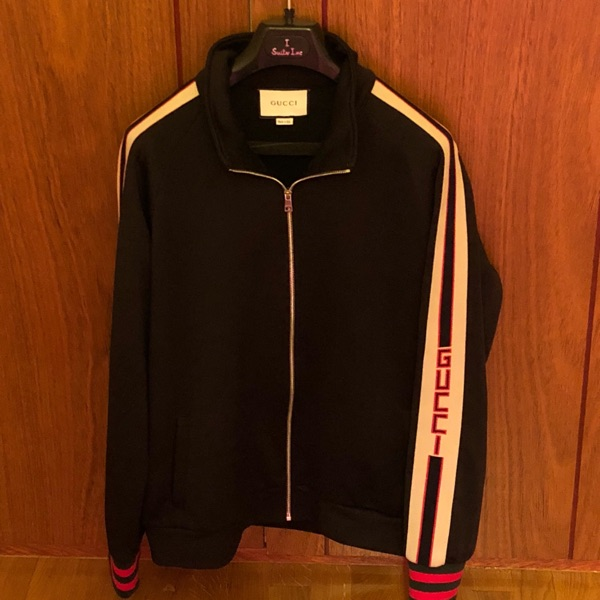 Gucci Gg Web Technical Jersey Jacket - Quick Sell