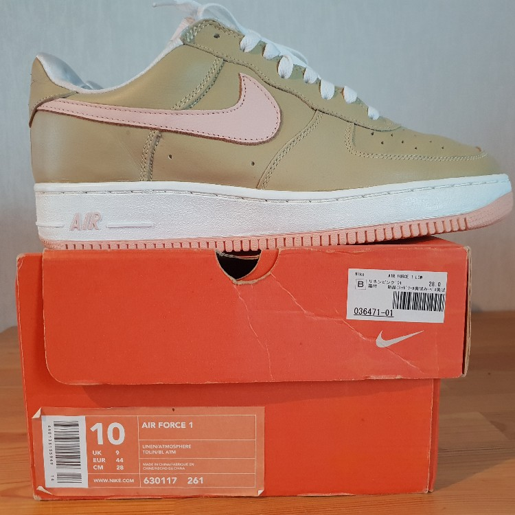 get cheap wholesale on wholesale Nike Air Force 1 Low Linen co.jp Atmos Grail 2001 Us 10 Eur 44 Vnds