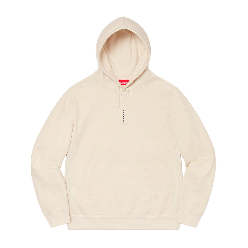 Supreme Micro Logo Hooded Sweatshirt Natural