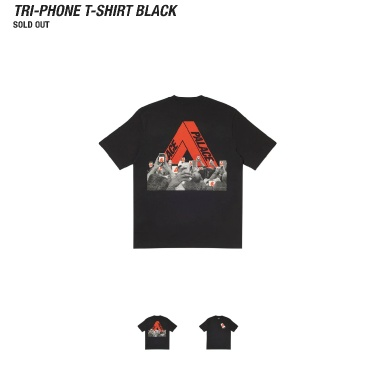 Palace Tri-phone T Shirt Black Small *ORDER CONFIRMED*