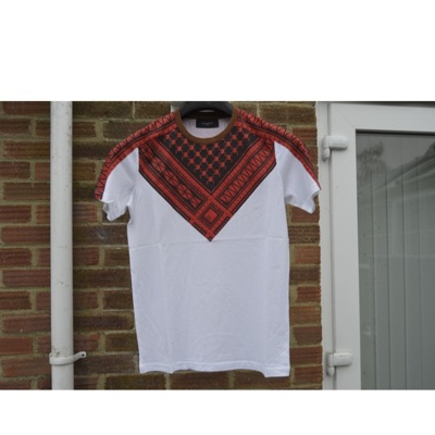 Givenchy White And Red Keffiyeh Print T-Shirt