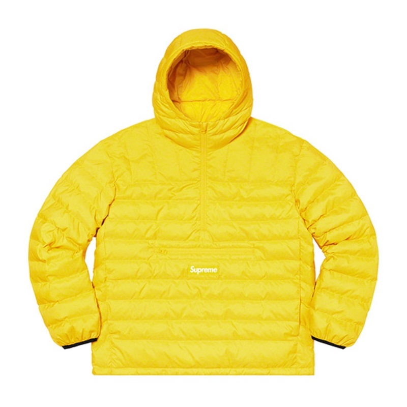 Supreme Micro Down Half Zip Hooded Pullover Acid