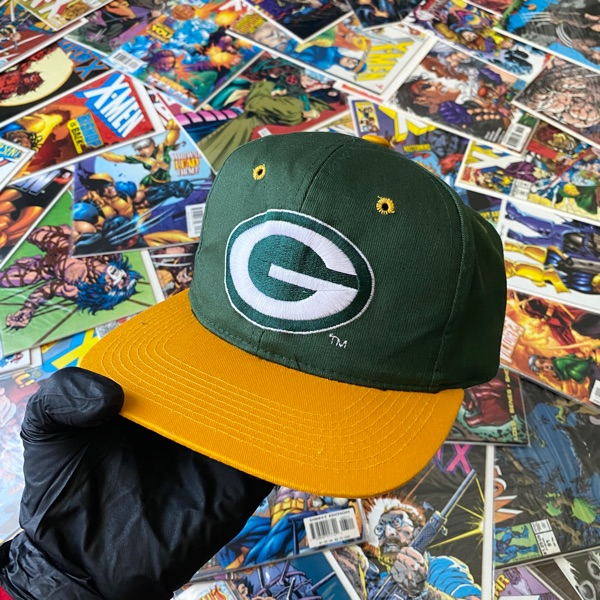 Vintage   90S Green Bay Snap Back   One Size