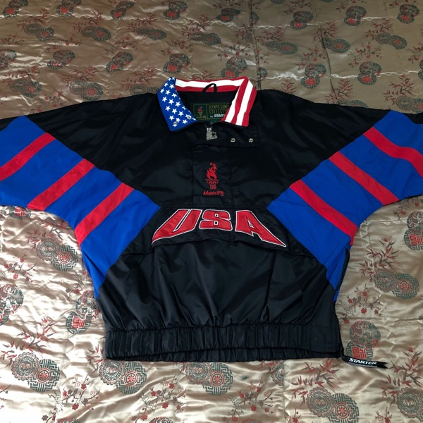 Vintage Olympic Atlanta 1996 Team Usa Windbreaker