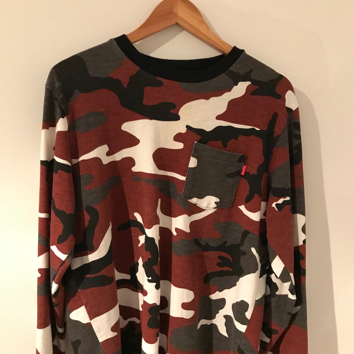 Supreme L/S Pocket Tee (FW18) Red Camo