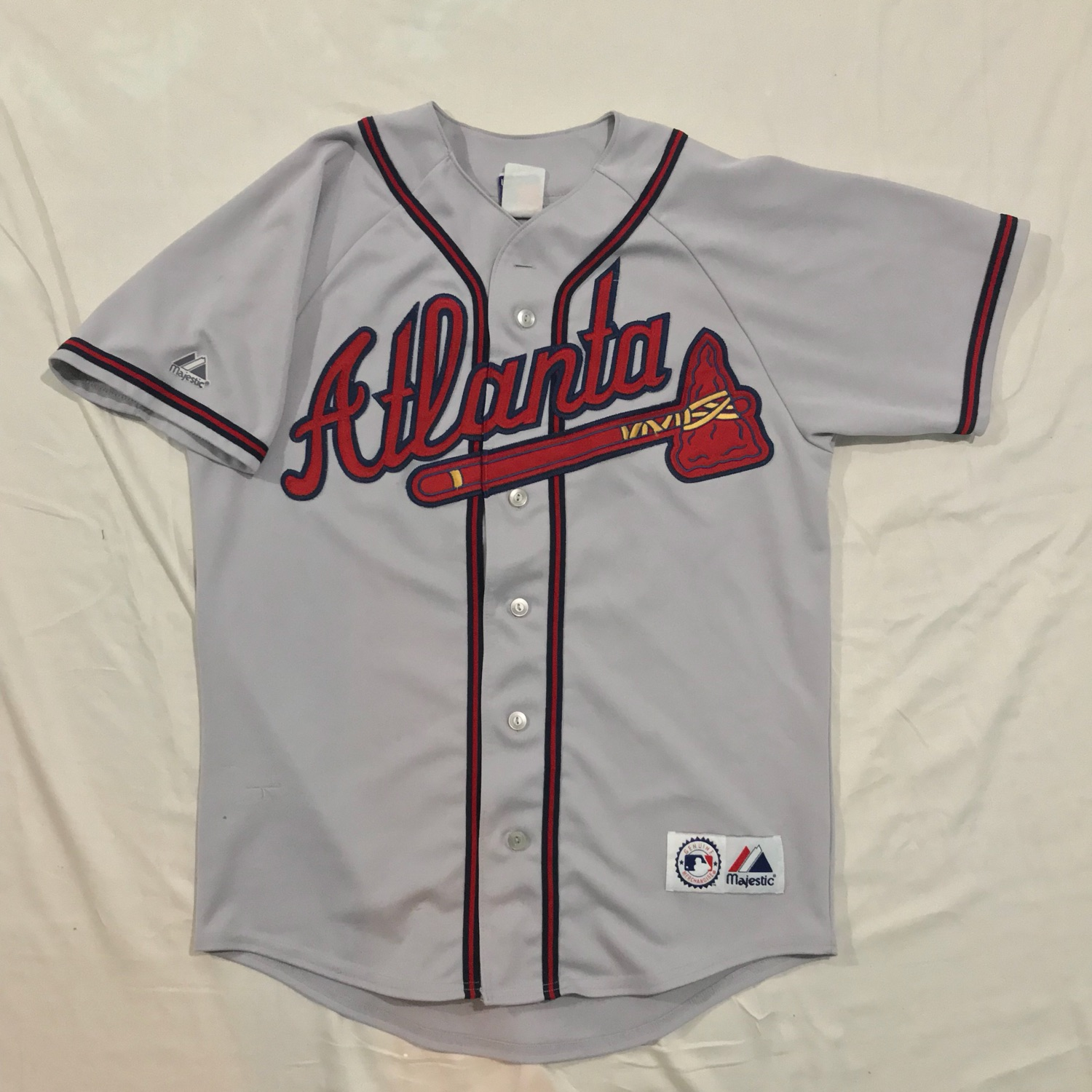 detailed look 95a83 590c0 Majestic Atlanta Braves Jackie Robinson Jersey