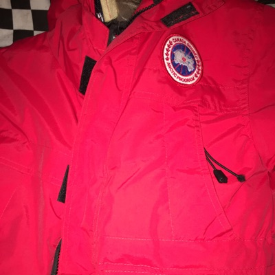 Red Canada Goose Jacket Small
