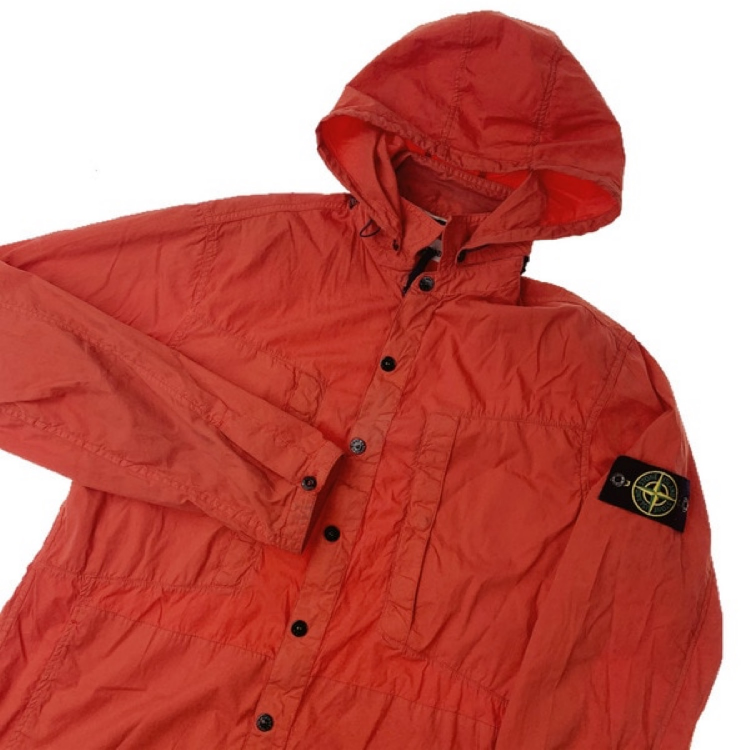 Stone Island S/S 12 Orange Hooded Overshirt