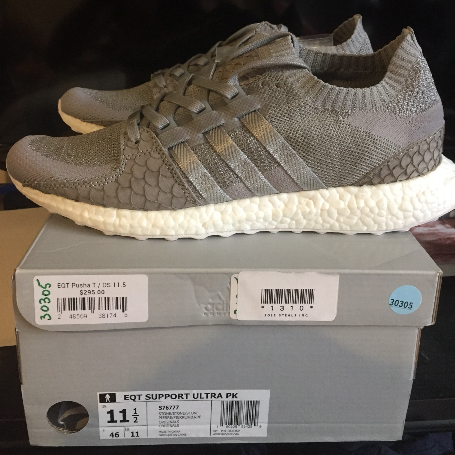 the best attitude a75b7 e48f6 Adidas X Pusha-T Eqt Support Ultra Pk Stone