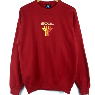 Vintage Spell Out Small Logo Soul Sweatshirt