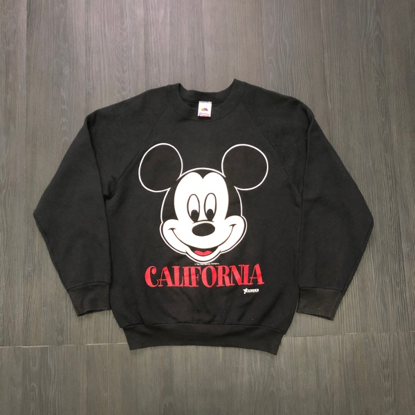Vintage 90'S Mickey Mouse Face Sweatshirt Rare