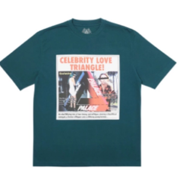 Palace Love Triangle T-Shirt Dark Green Small