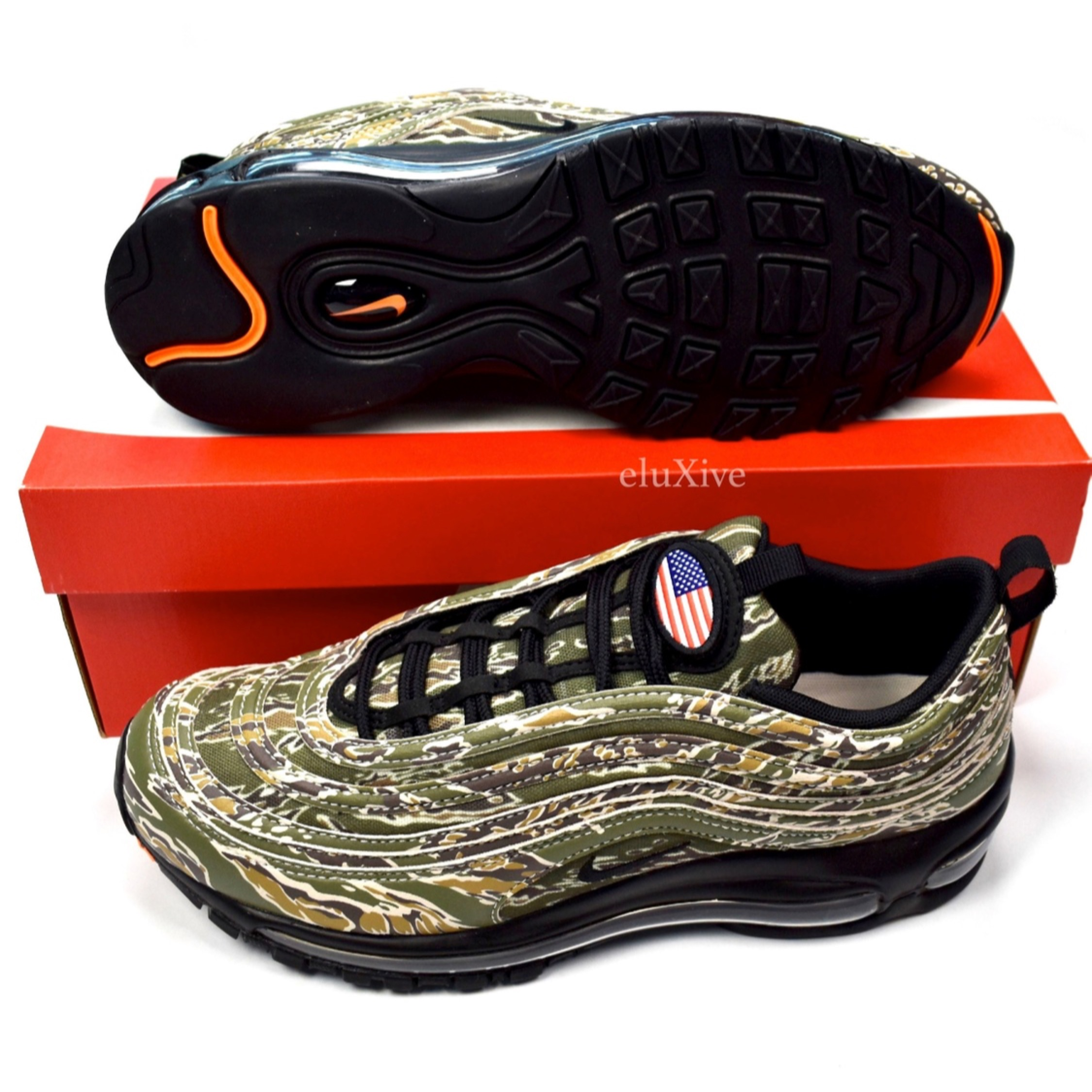 outlet store 30ba5 57d4a Nike Air Max 97 Country Camo Usa New 9.5