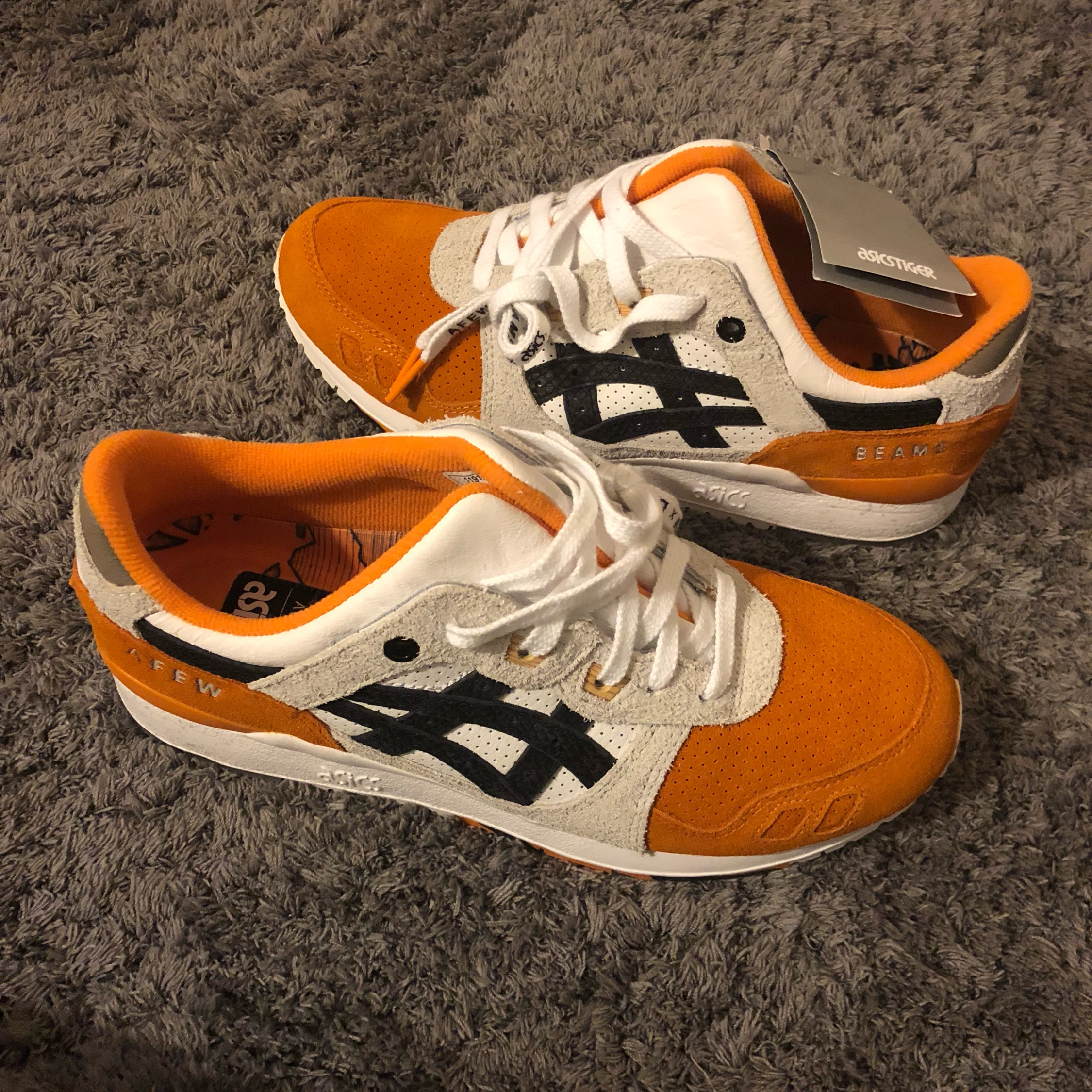 lace up in 100% top quality sports shoes Asics Orange Koi X Afew X Beams