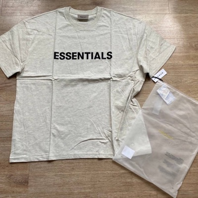 Fear Of God Essentials Oatmeal Tee Ss20