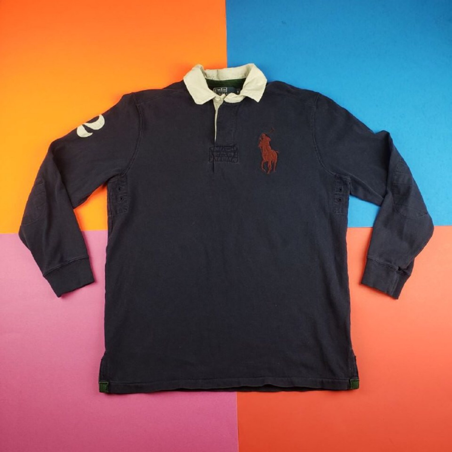 Vintage 90S Polo Ralph Lauren '2' Rugby Polo Shirt